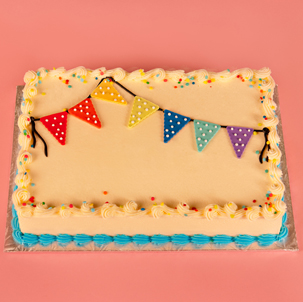 """Party Pennants - 6"""" Single Round"""