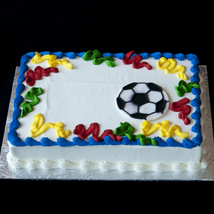 "Party Streamers Soccer - 6"" Single Round"