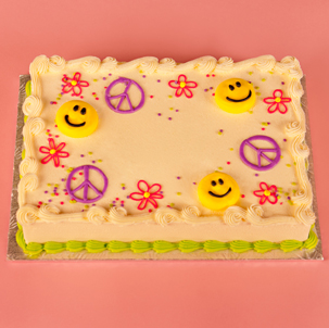 "Peace, Smilies, & Daisies - 6"" Single Round"