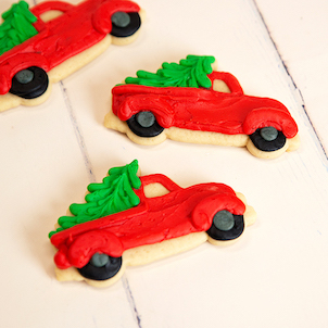 Christmas Truck Cut-Out Cookie