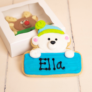 Polar Bear Personalized Cookie