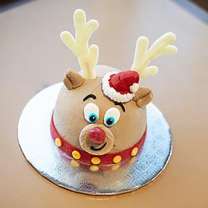 "Rudolph- 8"" Double Round"