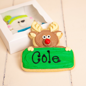 Rudolph Personalized Cookie