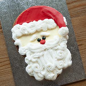 Santa Cookie Cake