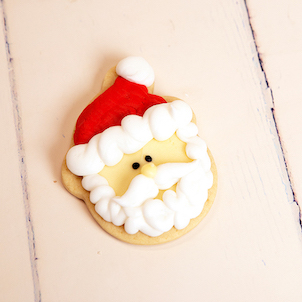 Small Santa Cut-Out Cookie