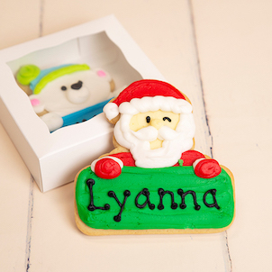 Santa Personalized Cookie