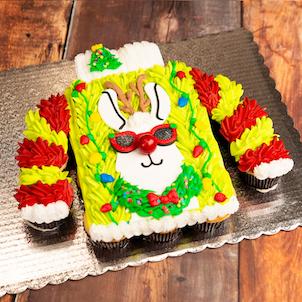 Ugly Sweater Cupcake Cake