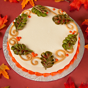 "Autumn Scrolls - 8"" Double Round"