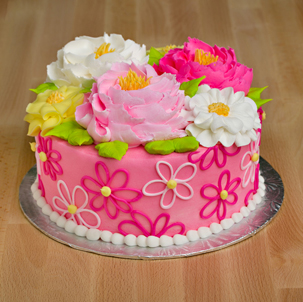 "Blooming Cake 1 - 6"" Double Round"
