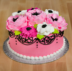 "Blooming Cake 2 - 6"" Double Round"