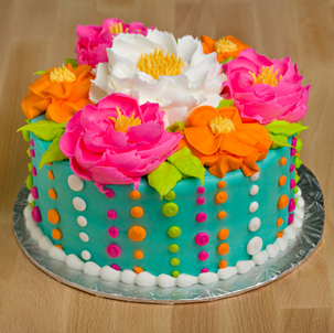 "Blooming Cake 3 - 6"" Double Round"