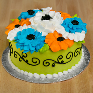 "Blooming Cake 4 - 6"" Double Round"