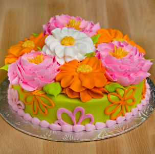 "Blooming Cake 5 - 6"" Double Round"