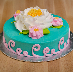 "Blooming Cake 6 - 6"" Double Round"