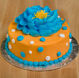 "Blooming Cake 8 - 6"" Double Round"