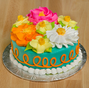 "Blooming Cake 7- 6"" Double Round"