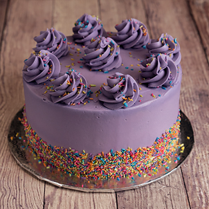 "Purple Shimmer Celebration- 6"" Single Round"
