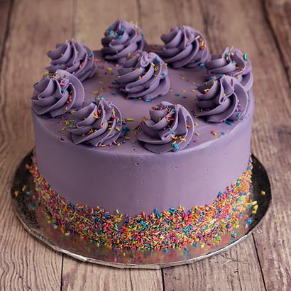 "Purple Shimmer Celebration- 8"" Double Round"