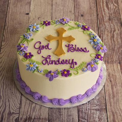 "God Bless Cross - 12"" Single Round"