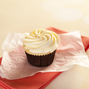 White with Buttercream Cupcake