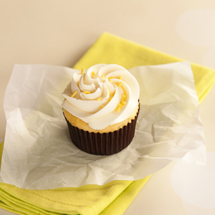 Yellow with Buttercream Cupcake