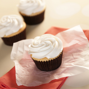 White with Almond Cupcake