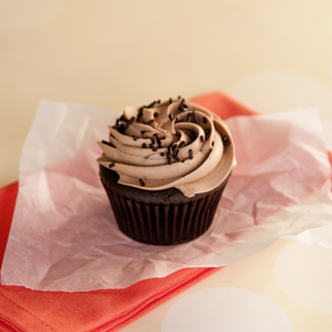 Chocolate with Chocolate Buttercream Cupcake
