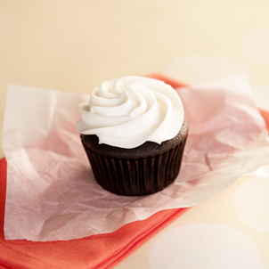 Chocolate with White Buttercream Cupcake
