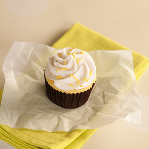 Yellow with White Buttercream Cupcake