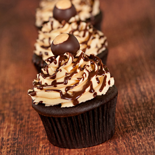 Buckeye Bliss Gourmet Cupcake