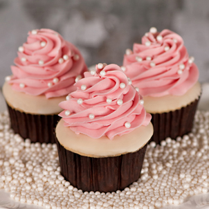 White Chocolate Raspberry Gourmet Cupcake
