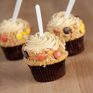 Peanut Butter Sundae Gourmet Cupcake