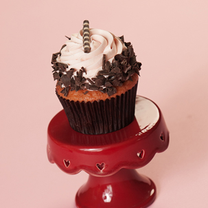 Strawberry Twist Gourmet Cupcake