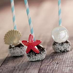 Chocolate Cake Pop - Seaside- 1/2 Dozen