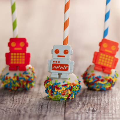 Vanilla Cake Pop - Robots- 1/2 Dozen