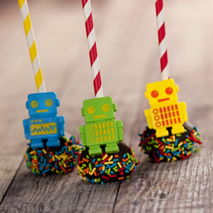 Chocolate Cake Pop - Robots- 1/2 Dozen