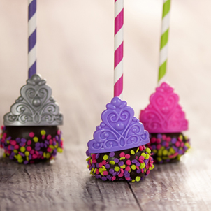 Chocolate Cake Pop - Tiaras- 1/2 Dozen