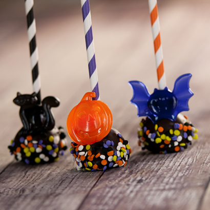 Chocolate Cake Pop - Halloween- 1/2 Dozen