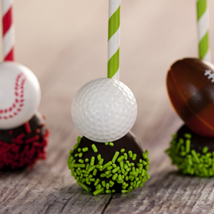 Chocolate Cake Pop - Golf- 1/2 Dozen