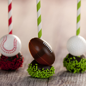 Chocolate Cake Pop - Football- 1/2 Dozen