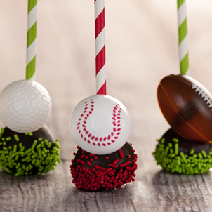 Chocolate Cake Pop - Baseball- 1/2 Dozen