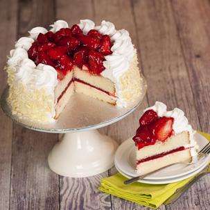 Fresh Strawberry Dessert Cake
