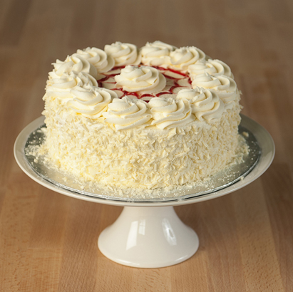 White Chocolate Raspberry Dessert Cake