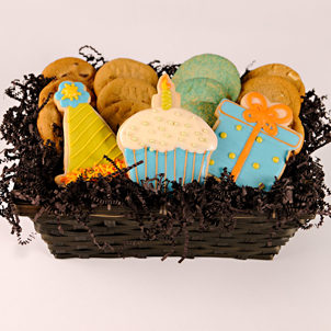 """Birthday Palooza"" Cookie Basket"