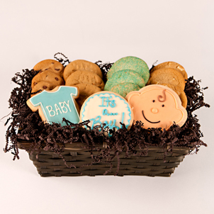 """Basket of Joy - Baby Boy"" Cookie Basket"