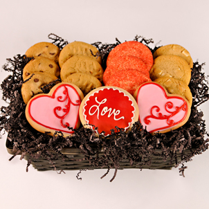 """Sweethearts"" Cookie Basket"