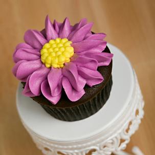 Gerber Daisy Decorated Cupcake