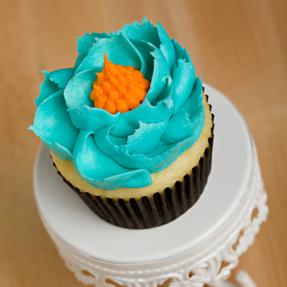 Fantasy Flower Decorated Cupcake