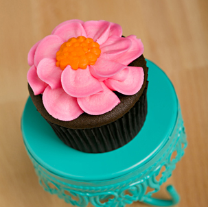 Petal Flower Decorated Cupcake