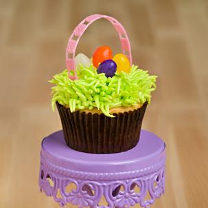Easter Basket Decorated Cupcake